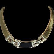 Vintage Christian Dior Gold Tone Choker Necklace
