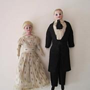 SALE PENDING Evelyn Ackerman estate, Fine all-original Dollhouse Dolls