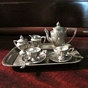 SOLD Early Pewter Tea Service