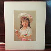 SOLD Original French Artist Proof, Child w/ Broken Polichinelle