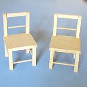 "SOLD Schoenhut Humpty Dumpty Circus Chairs, 4 ½"""
