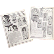 "Vintage Patterns for 13"" Madame Alexander Dolls"