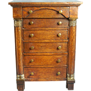 REDUCED Mid 19th Century Walnut Chest of Drawers for Fashion or Bébé