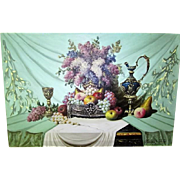 SALE Still Life of Flowers and Fruit by Bela Balogh