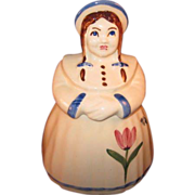 Shawnee Dutch Girl (Jill) Cookie Jar w/ tulip