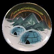 SALE Sascha Brastoff of Alaska Plate