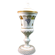 SALE Westmoreland Waterford Urn with Gold leaves and Grapes