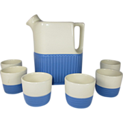 Universal Pottery Water Pitcher and Cups