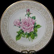 Vintage Edward Marshall Boehm Rose Plate