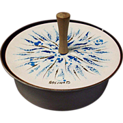 Sascha Brastoff Enameled Covered Dish