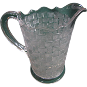 "EAPG Milk Pitcher - ""Basketweave"" Pattern"
