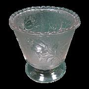 """EAPG Pattern Glass """"Rose In Snow"""" Spooner"""