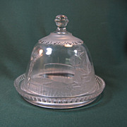 Riverside Glass Covered Cheese Dish