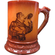 SALE Westmoreland Rookwood Brown Decorated Stein
