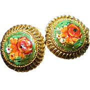 SALE PENDING Micro Mosaic Earrings from Italy