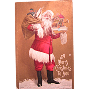 Embossed Christmas Postcard