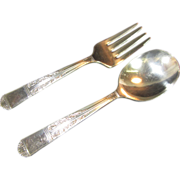 Child's Silverplate Fork and Spoon