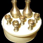 Miniature Brass Wine Set