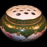 Limoges 2 Piece Floral Vase