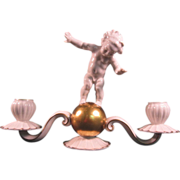 SALE Hutschenreuther Porcelain Cherub Candle Holder