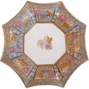 "Nippon 8 sided 7 1/2"" Porcelain Pillow Dish"