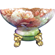 SALE T & V Limoges Punch Bowl and Plinth Artist Signed and Dated 1904
