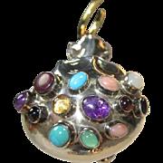 SALE Sterling Silver Medicine Bag Pendant by Navajo Artist E. Billy