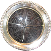 Sterling and Glass Wine Coaster