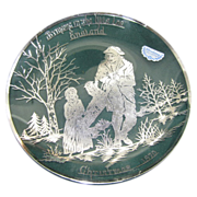 Vintage Silver City Glass Company Collector Christmas Plate