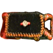 REDUCED Old Miniature Doll Purse Beaded Velvet Clutch For French Fashion