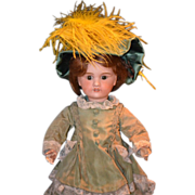 REDUCED Antique French Bisque Doll Dressed