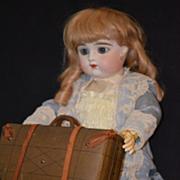 REDUCED Antique Wonderful Suit Case For Bisque Doll Miniature Unusual