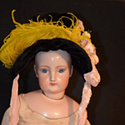 REDUCED Old Doll Hat Miniature Velvet Feathers For Fashion Doll