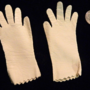 REDUCED Old Leather Miniature Doll Gloves For Fashion Doll