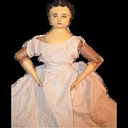 REDUCED Antique Doll Joel Ellis Wood Metal Jointed