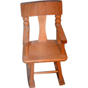 REDUCED Vintage Doll Rocking Chair Strombecker Wood