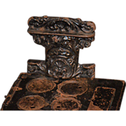 REDUCED Antique Miniature Salesman Sample Doll Stove Oven Child Cast Iron