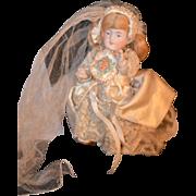 REDUCED Antique Miniature Bisque Doll Bride Dollhouse Kestner