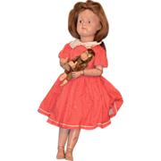 REDUCED Antique Doll Schoenhut Wood Carved Jointed SWEET