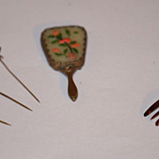 REDUCED Antique Doll Miniature Fashion Items Mirror Hat Pins Hair Comb Tin Type LOT