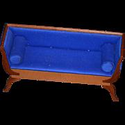 REDUCED Miniature Doll Sofa Settee inlaid Fancy Dollhouse