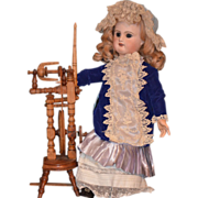 REDUCED Antique Doll Spinning Wheel Wood Working For Fashion Doll