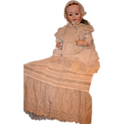 REDUCED Antique Doll Bisque Morimura Brothers In Christening Gown