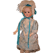 REDUCED Antique Doll Bisque Beauty Mystery Doll Dressed