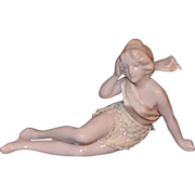 REDUCED Antique Doll Bathing Beauty Nude Piano Baby Figurine