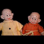 REDUCED Antique Doll IDEAL Snow White & Seven Dwarfs Composition