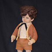 REDUCED Antique Doll Lenci Boy Italian Cloth CHaracter Original Clothes