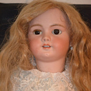 REDUCED Antique Doll French Bisque DEP TETE Jumeau Signed Body