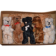 SOLD Old Bear Miniature Bears for Doll in Orig. Box Five Bears Jointed Mohair