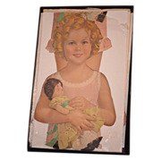 REDUCED Old  Doll Shirley Temple  Paper Doll Set Large W/ Outfits
